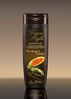 Регенерирующий шампунь «Пассифлора&Розмарин» для тонких, ослабленных волос.