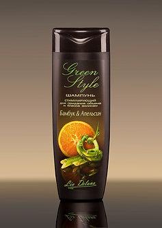 Стимулирующий шампунь «Бамбук&Апельсин» для придания объема и блеска волосам.