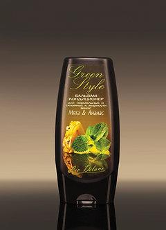 Бальзам-кондиционер «Мята&Ананас» для нормальных и склонных к жирности волос.