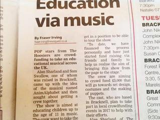 Bracknell News feature AnimAlphabet The Musical