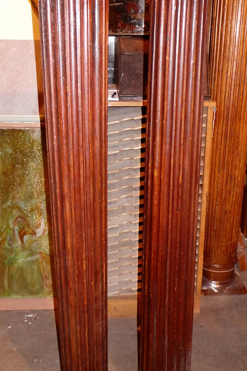 Pair Of Architectural Oak Fluted Columns