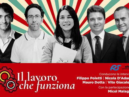 """Al via la serie di talk """"Il lavoro che funziona"""": online le buone pratiche italiane nell'era Covid19"""