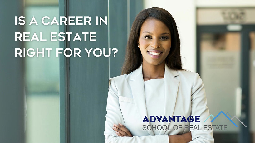 Is a career in real estate right for you?