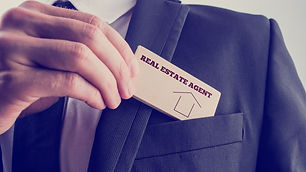 Real Estate Agent Business Card In Pocke