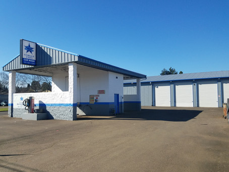 Star Storage in Willamina is more than storage! A convenient, self-serve car wash is on-site.