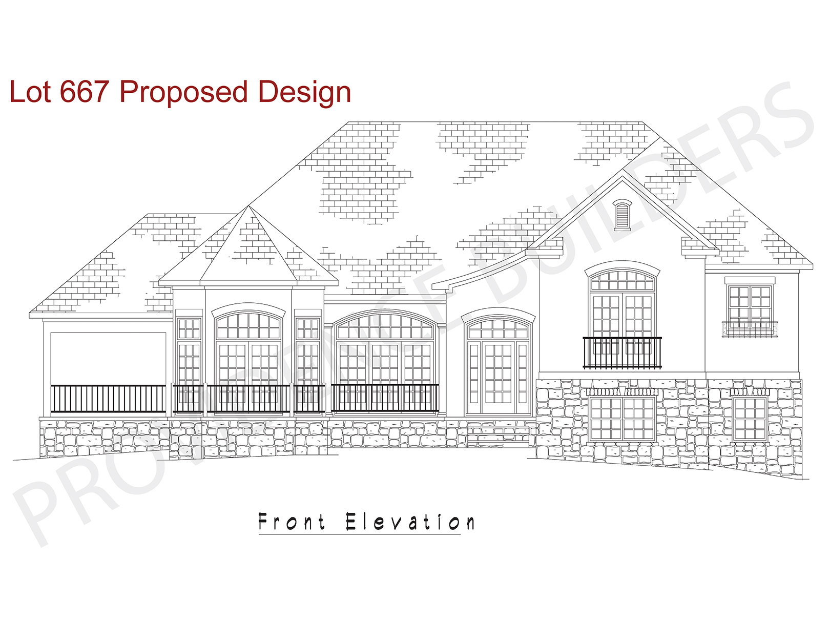 Lot 667 Front Elevation