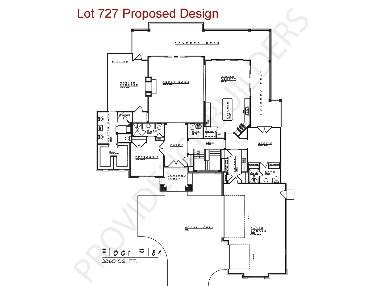 Lot 727 Floor Plan