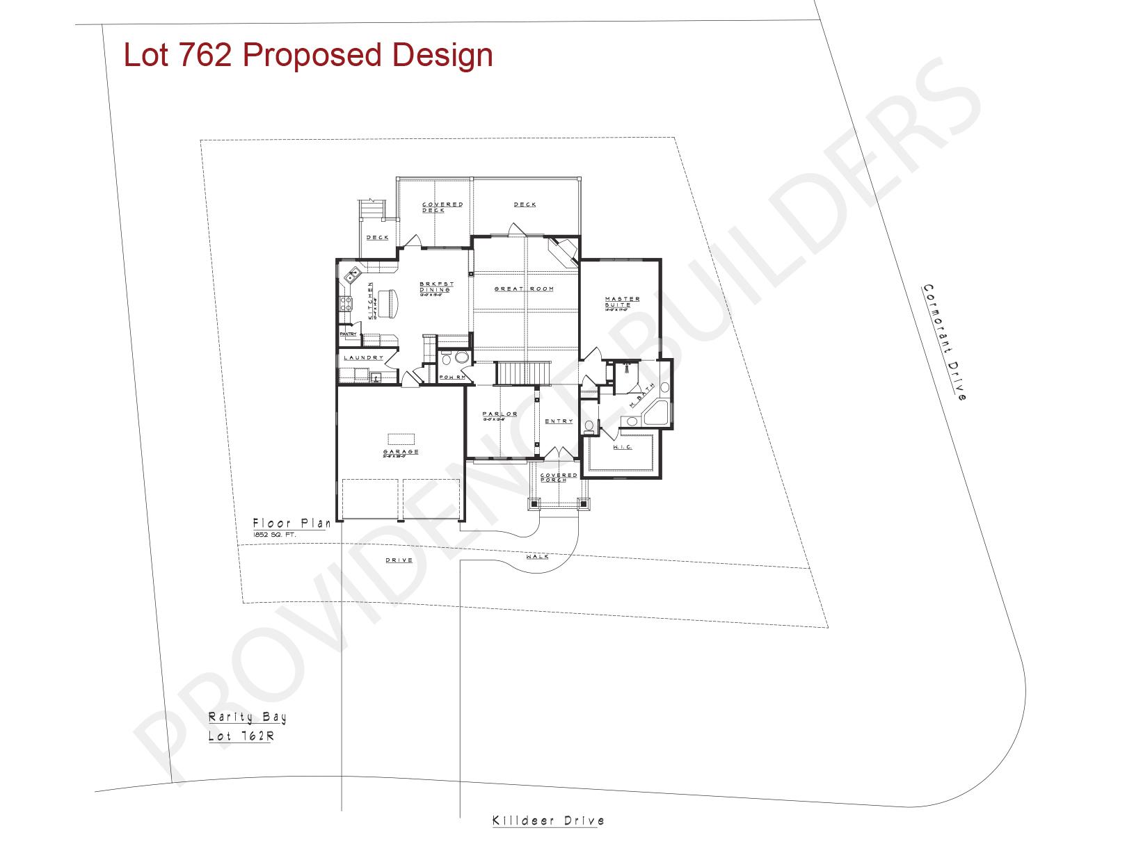 Lot 762 Floor Plan