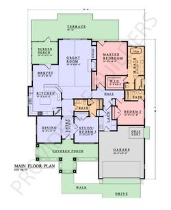 Birkdale Main Floor Plan