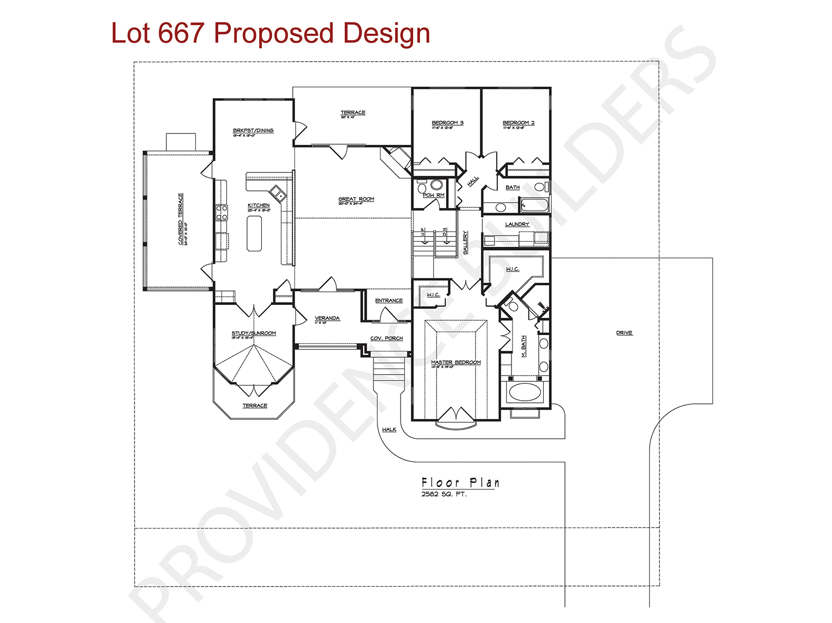 Lot 667 Floor Plan