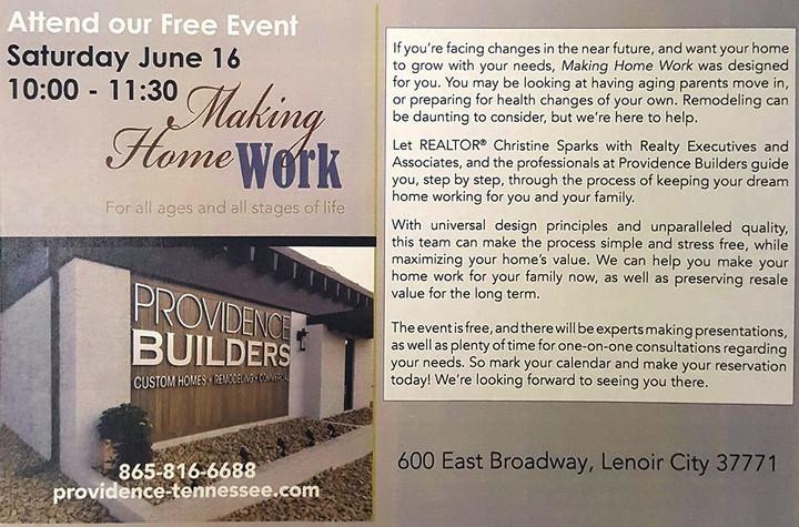 June 16 - Making Home Work Seminar