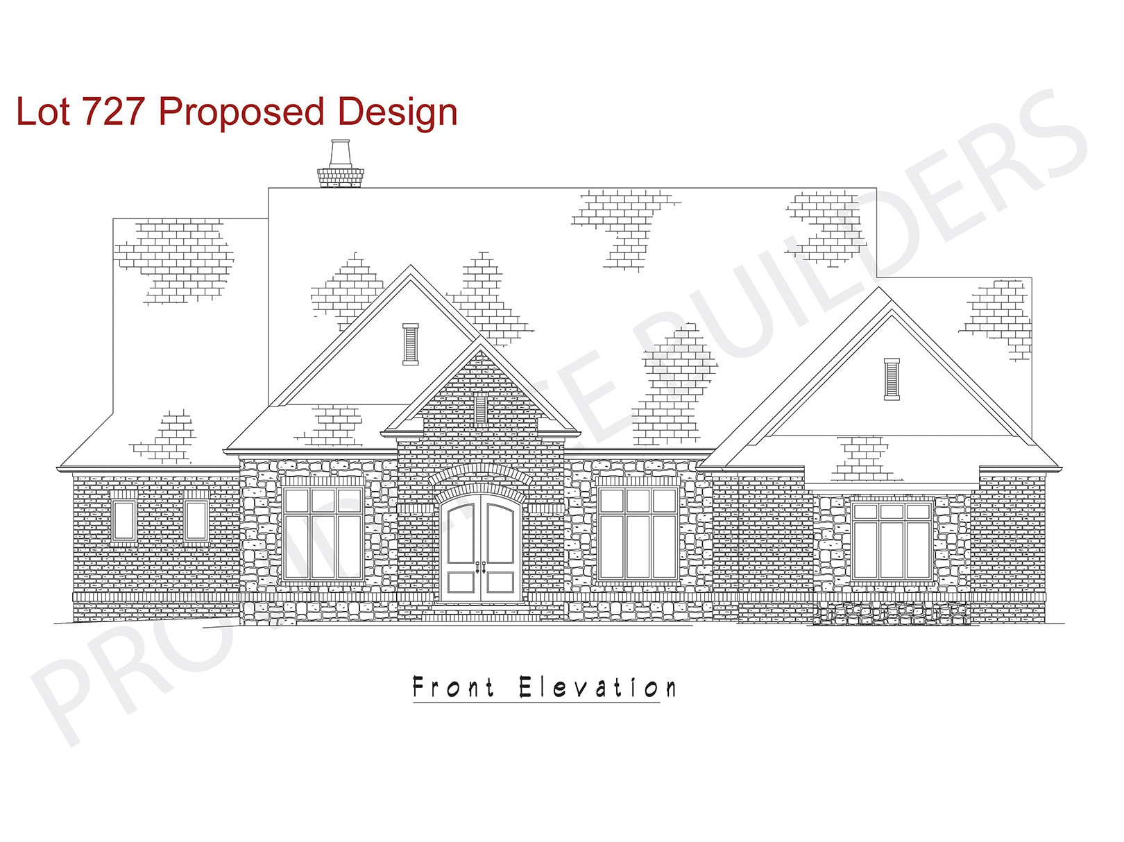 Lot 727 Front Elevation