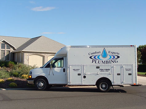 Comfort Experts Plumbing truck in Moses Lake