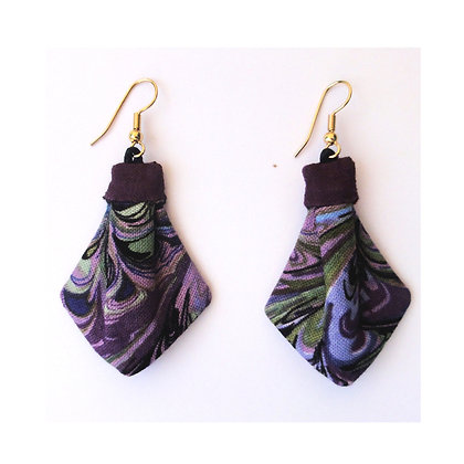 Small Purple Marble Ties