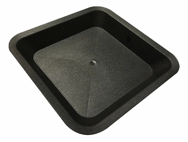 PLATO DE PLASTICO P/MACETA CUADRADA (33.5X33.5CM) - 25 A 30L