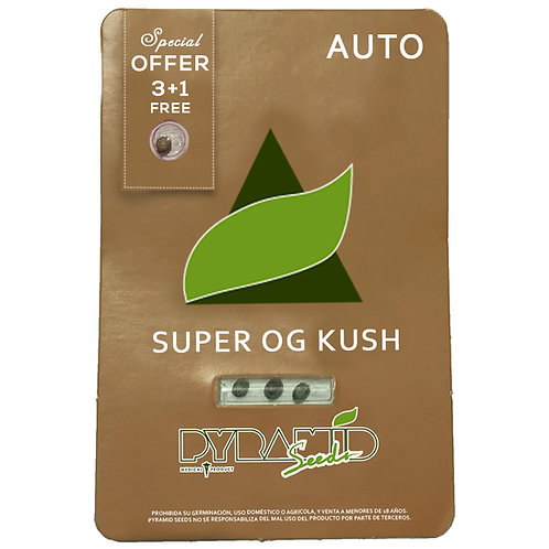 AUTO - SUPER OG KUSH X3 UNIDADES + 1 GRATIS