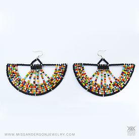 Full Moon Beaded Earrings
