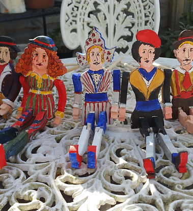 Philip Sugg's cut outs of puppets that he made in Sussex (Brighton)