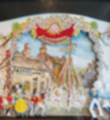 The scenery from miniature theatres can be made  Into framed pictures created by Philip Sugg in Sussex (Brighton)