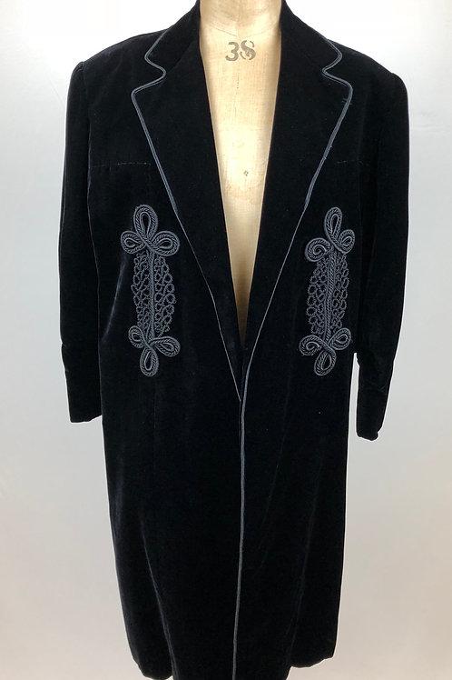 Vintage velvet evening coat, velvet evening coat, Evening wear.