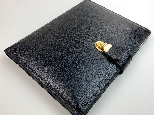 Black leather folio, leather accessories for men, mens accessories, www.preve.com
