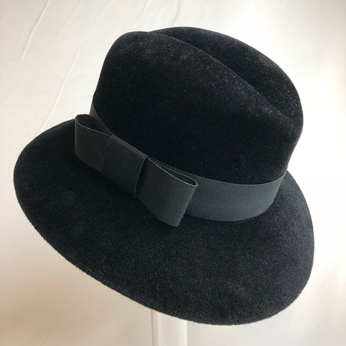 Dolores Fedora, Black Fedora, Black hats, occasional hats, vintage fedora, www.preve.com