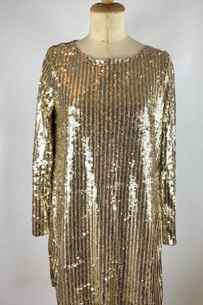 Claudie Pierlot sequin dress, preloved designer dresses, Claudie Pierlot dresses, www.preve.com