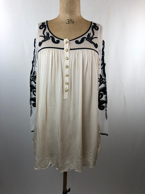 Temperley London Tattoo lace silk-blend tunic,Temperley London, dresses, womens dresses, Designer dresses, www.preve.com