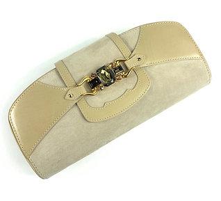 Giuseppe Zanotti cream clutch bag