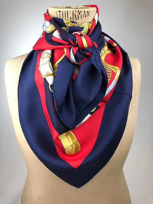 Hermes Eperon d'Or silk scarf,Hermes scarf, vintage Hermes scarf, vintage Hermes, 1974 hermes,