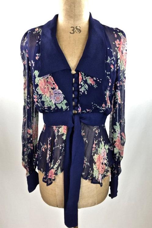 Vintage Benny Ong clothing, Benny Ong,floral shirt, vintage floral shirt, preve.com