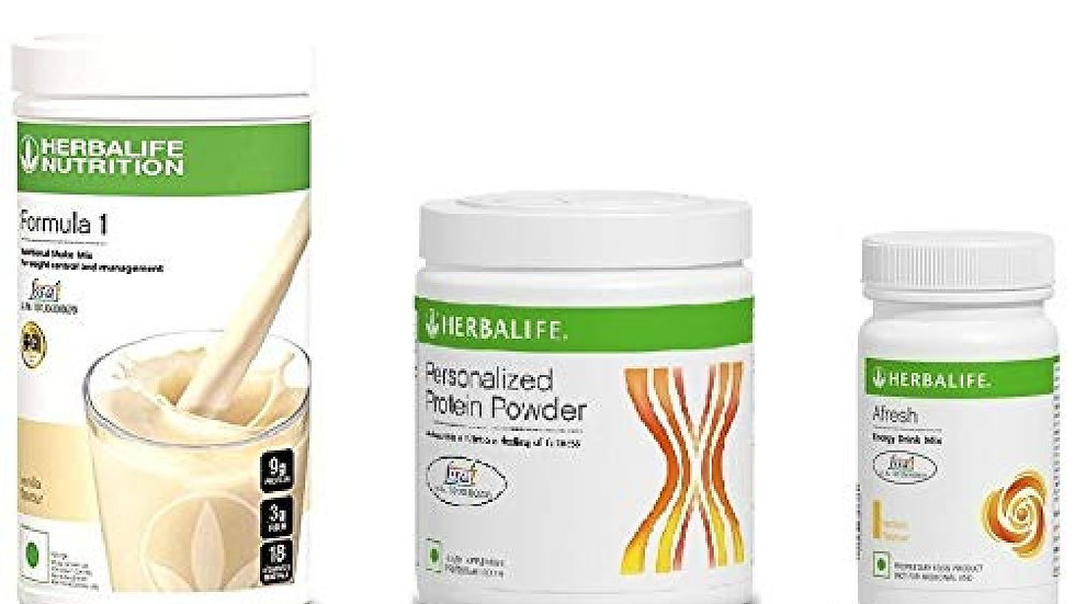 Herbalife Weight Loss Package- Vanilla Shake 500gm, Personalized Protein Powder