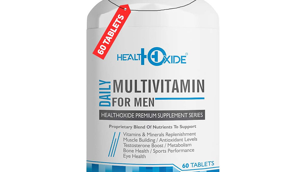 HEALTHOXIDE Multivitamins for Men with 54 total nutrients for daily health – 60