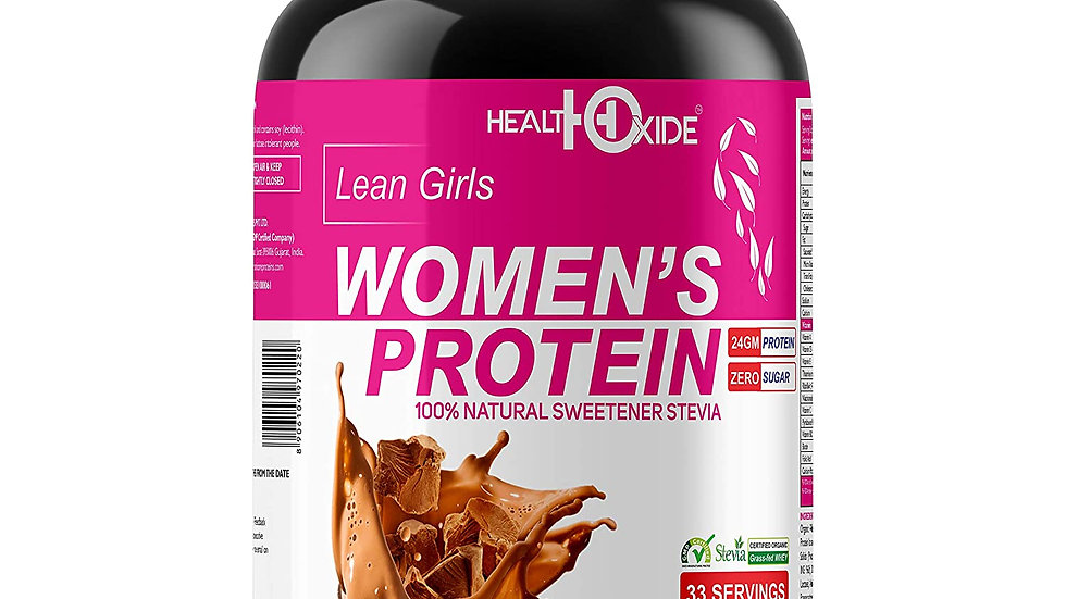HealthOxide Women's Protein with 100% Natural Sweetener Stevia – 1 kg