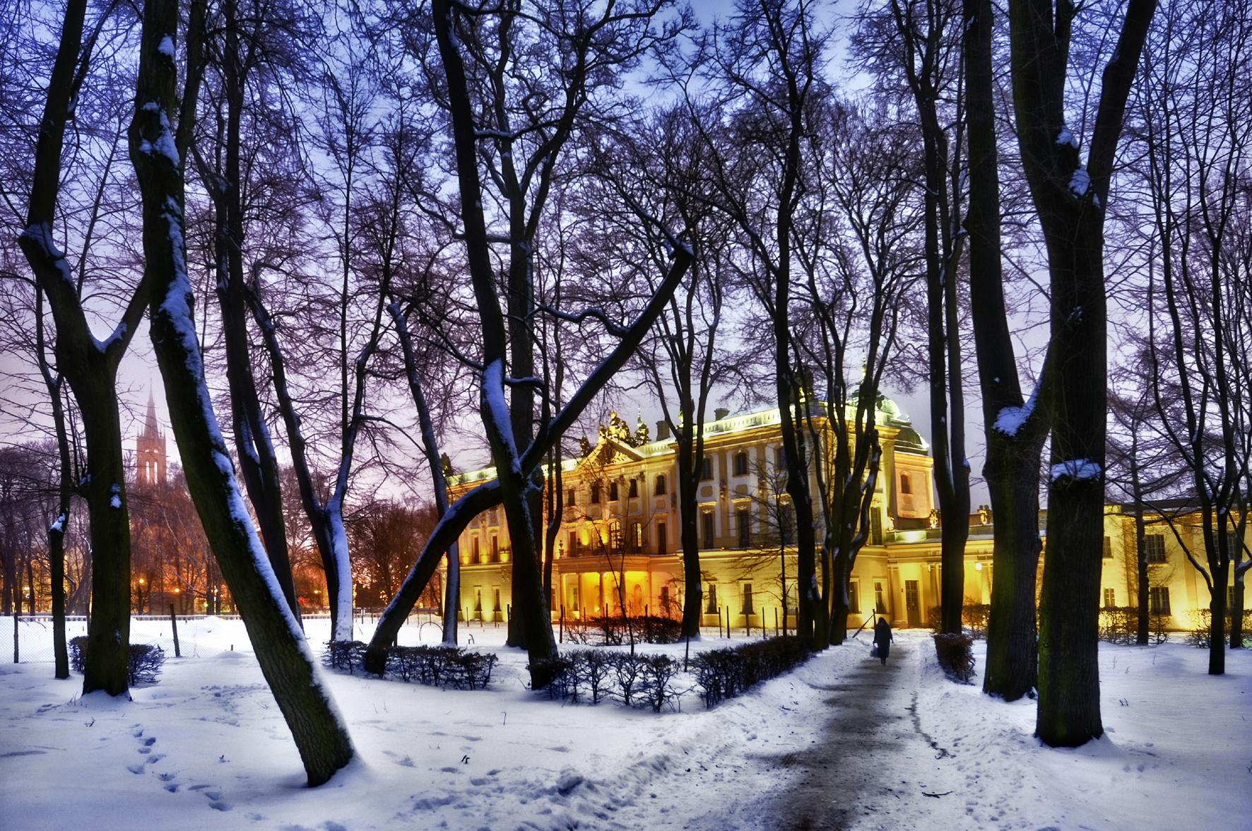 Bialystok - Pałac Branickich zimą