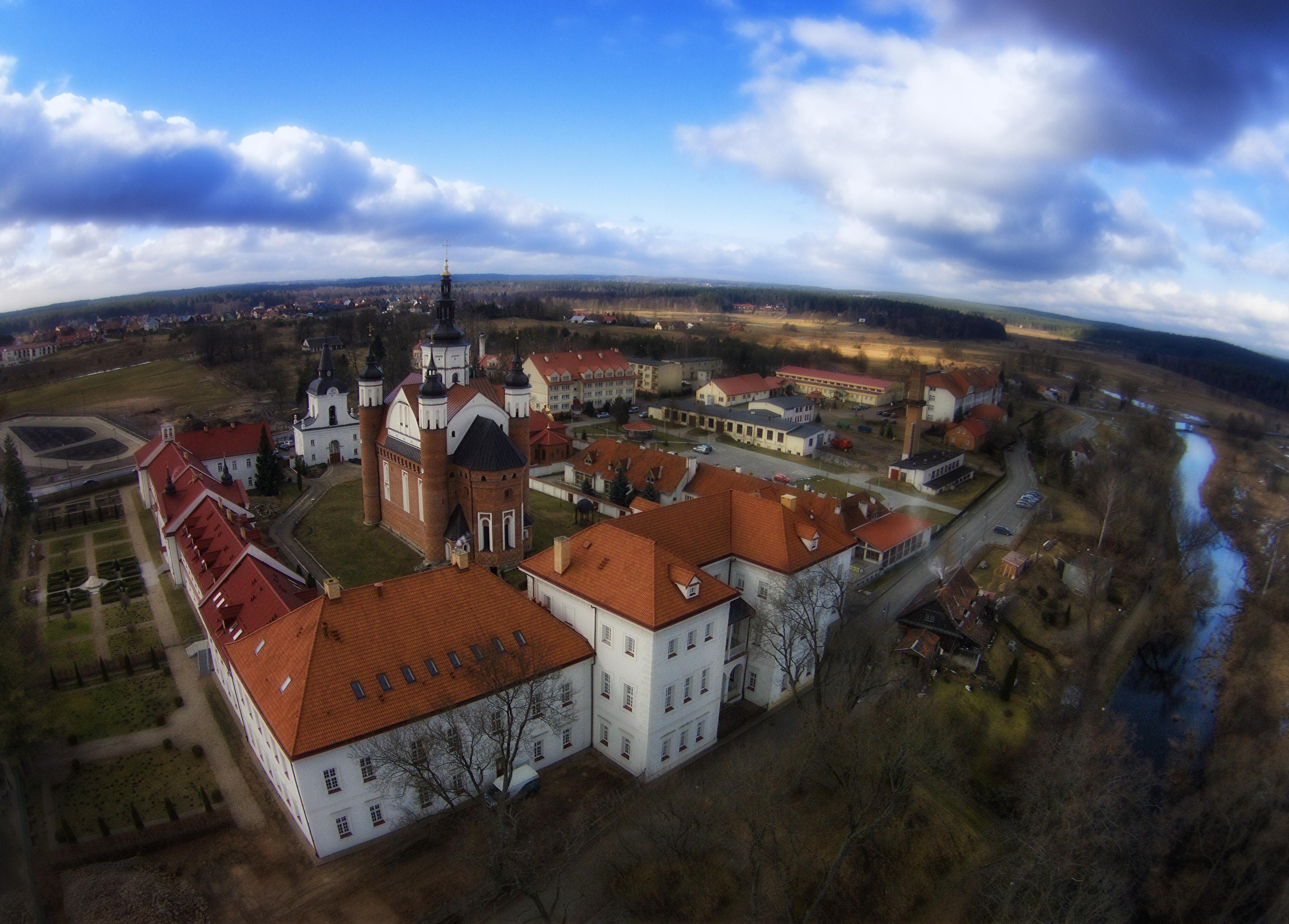 Supraśl - klasztor z lotu ptaka