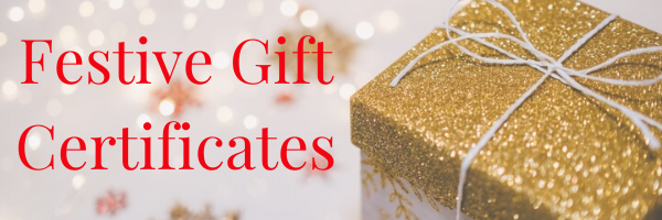 Festive Gift Certificates website header