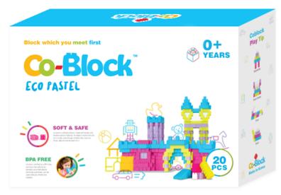 Co-Block X Little Pony Jelly Blocks 軟膠積木 ECO PASTEL 20P