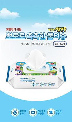韓國Pororo冰鎮企鵝仔嬰幼兒濕紙巾- 100張