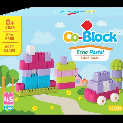 Co-Block X Little Pony Jelly Blocks 軟膠積木Echo PASTEL45Pcs