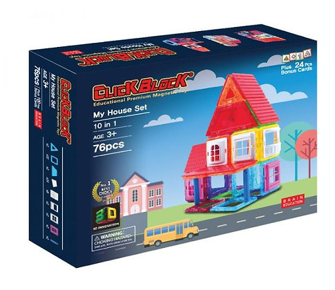 Little Pony x Magkinder My House Set 76pcs