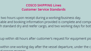 Cosco Shipping Email