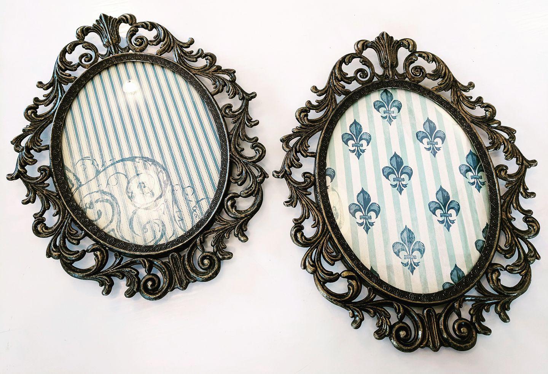 Vinframeaffair vintage metal oval frames jeuxipadfo Images
