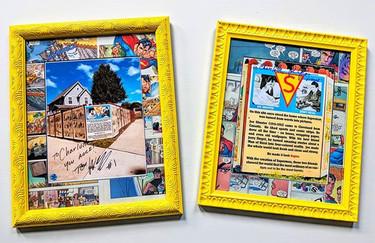 Custom comic book matting on these signe