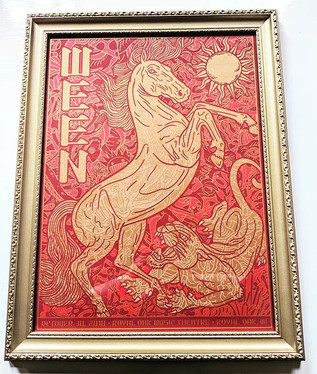 Ween Print in a Beautiful gold frame! #w