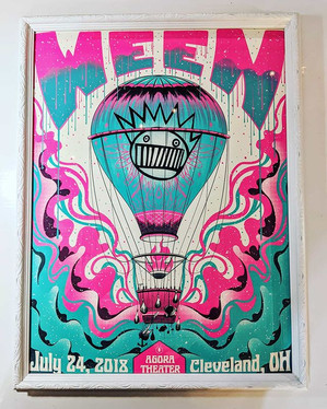 Love this colorful Ween concert poster!