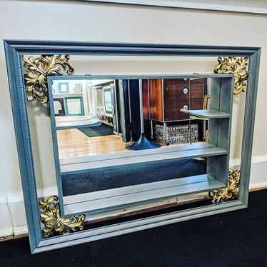 SOLD Gorgeous Vintage Shadowbox Mirror.