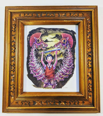Perfect vintage Frame for this piece by