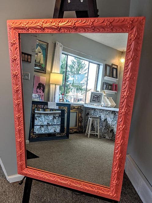 Vintage Coral Flower Mirror