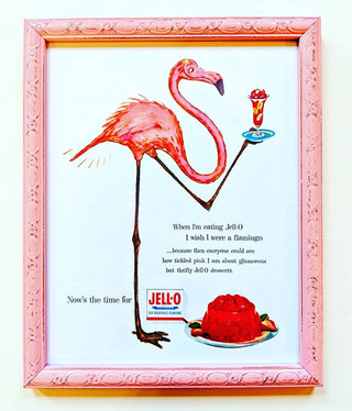 SOLD Adorable Flamingo Jello ad print. 1